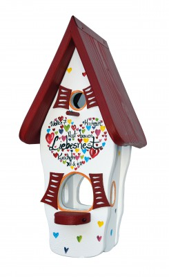 Kombiniertes Vogelhaus - Minivilla 1 Liebesnest Kuscheln