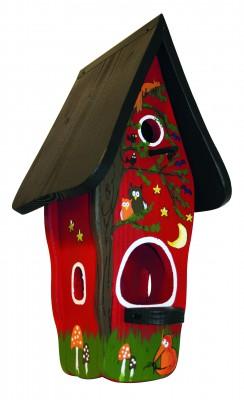Kombiniertes Vogelhaus - Minivilla 1 Tiere des Waldes
