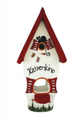 Kombiniertes Vogelhaus - Minivilla 1 Katzenkino