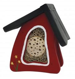 Insektenvilla Mini Wandmontage, leuchtrot
