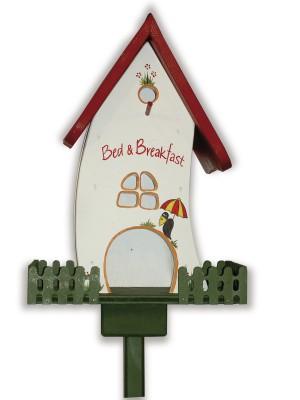 """Kombiniertes Vogelhaus """"Zaunvilla Bed&Breakfast"""" stehend"""