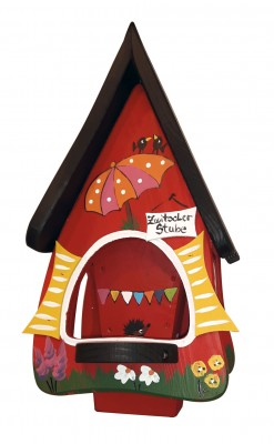 Futterhaus mit Silo - Futtervilla klein Zwitscherstube