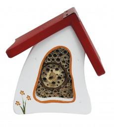 Insektenvilla Mini Wandmontage, weiß