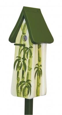 Nisttürmchen Wellness mit Bambus, weiss-grün