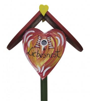 Herznistkasten klein Liebesnest rot