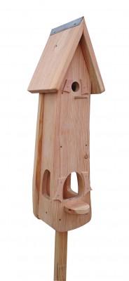 Kombiniertes Vogelhaus - Minivilla 2 Lärche Natur