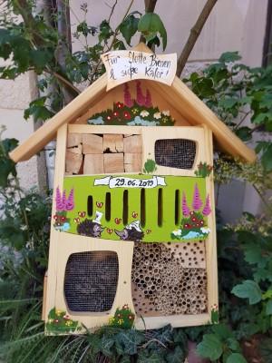 Insektenquartier Hochzeitshäuschen Natur/kiwigrün