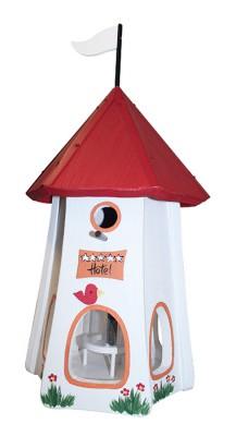 Turmhotel klein 5 Sterne Vogel mit Silo weiß