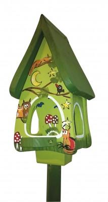 Futterhaus mit Silo - Futtervilla mini Tiere des Waldes kiwigrün