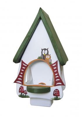 Futterhaus mit Silo - Futtervilla klein Hobbit Eulen