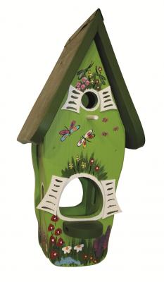 Kombiniertes Vogelhaus - Minivilla 1 Gartenzauber Kiwigrün