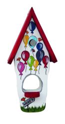 Kombiniertes Vogelhaus - Minivilla 1 Wolke 7 weiß
