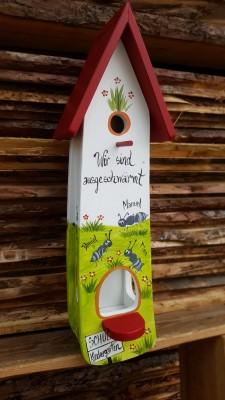 Kombiniertes Vogelhaus - Minivilla 2 Ameisen - personalisiert