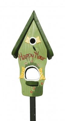 Kombiniertes Vogelhaus - Minivilla 1 Happy Hour hellgrün
