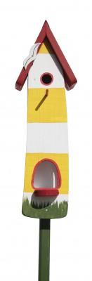 Minivilla 2 Spezial Leuchtturm, gelb-weiß