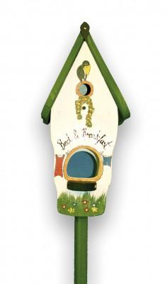 Kombiniertes Vogelhaus - Minivilla 1 Bed & Breakfast weiß