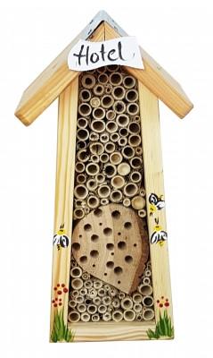 """Bienenhotel mini mit Schild """"Hotel"""""""