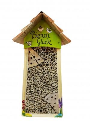 """Bienenhotel groß """"Bienen Glück"""" mit Lamellendach"""