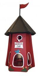 Turmhotel klein 5 Sterne Vogel mit Silo rot
