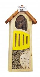 Insektenhotel, gelb