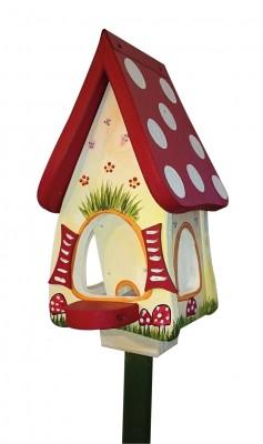 Futterhaus mit Silo - Futtervilla mini Waldhaus
