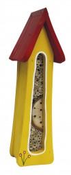 Insektenturm klein Wandmontage, gelb