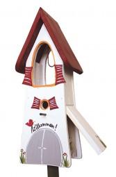 Glockenturm Willkommen weiß