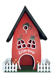 Zaunvilla Katzenkino hängend, rot