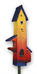 Luxusvilla Regenbogen, blaues Dach