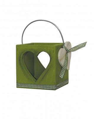 Laterne Herz, grün
