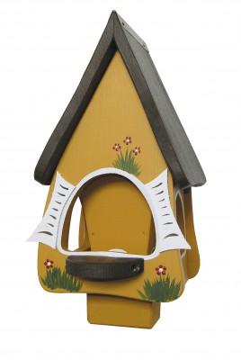 Futterhaus mit Silo - Futtervilla klein Hobbit honiggelb