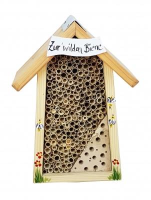 Bienenhotel klein mit Schild