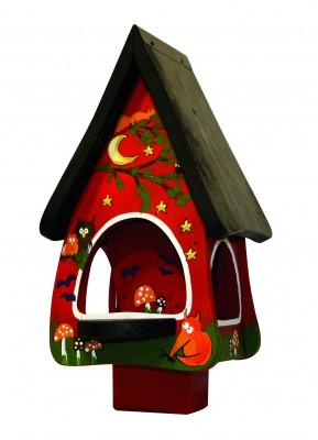 Futterhaus mit Silo - Futtervilla klein Tiere des Waldes