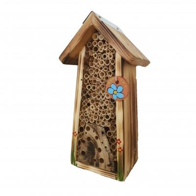 Bienenhotel mini rustikal mit Keramikscheibe