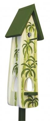 Kombiniertes Vogelhaus - Minivilla 2 Wellness weiss-grün