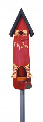 Kombiniertes Vogelhaus - Minivilla 2 Fly Inn rot