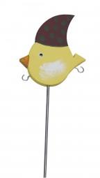 Knödelvogel klein, Mütze rot-grün gepunktet