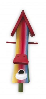 Futterhaus mit Silo - Futtertürmchen Farbenfroh