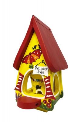 Futterhaus mit Silo - Futtervilla mini Zwitscherstube