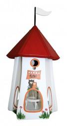 Turmhotel klein 5 Sterne Eulen mit Silo weiß