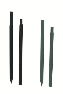Türmchenstange 1,30 m, kurz, dünn, schwarz