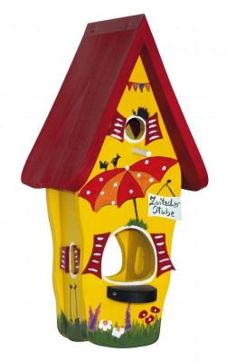 Kombiniertes Vogelhaus - Minivilla 1 Zwitscherstube gelb