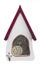 Insektenvilla klein Wandmontage, weiß