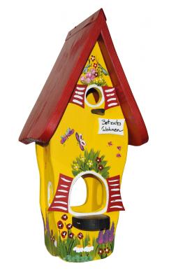Kombiniertes Vogelhaus - Minivilla 1 Gartenzauber Betreutes Wohnen gelb