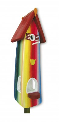 Kombiniertes Vogelhaus - Minivilla 2 Farbenfroh