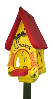 """Futterhaus: """"Futtervilla mini Katzenkino"""" gelb"""