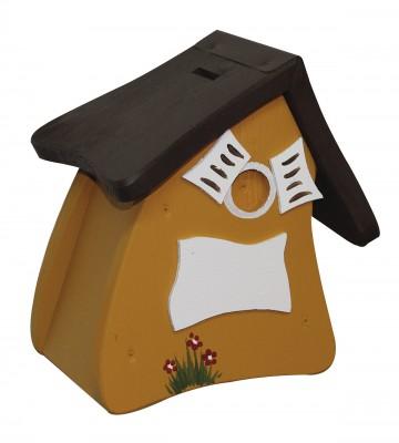 Hausbank Spardose kreativ, honiggelb