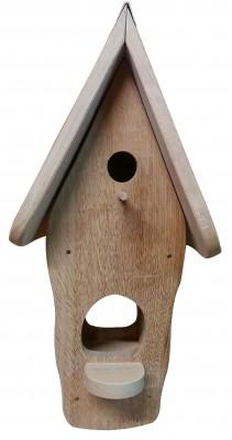 Kombiniertes Vogelhaus - Minivilla 1 Eiche Natur