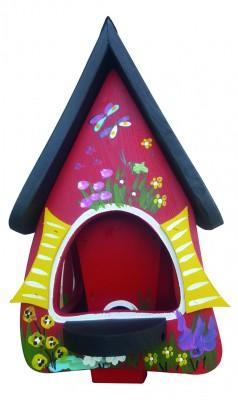 Futterhaus mit Silo - Futtervilla klein Gartenzauber