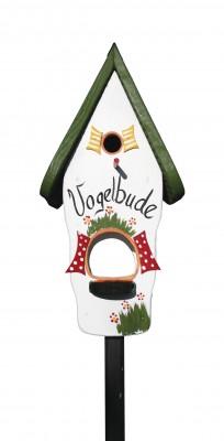 Kombiniertes Vogelhaus - Minivilla 1 Vogelbude weiß